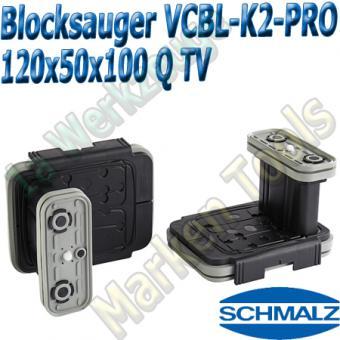 CNC Schmalz Vakuum-Sauger VCBL-K2-PRO 120x50x100 Q-TV  mit Tastventil 160x115mm