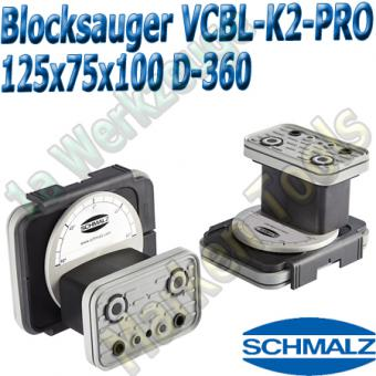 CNC Schmalz Vakuum-Sauger VCBL-K2-PRO 125x75x100 D-360 160x115mm
