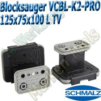 CNC Schmalz Vakuum-Sauger VCBL-K2-PRO 125x75x100 L-TV  mit Tastventil 160x115mm