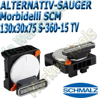CNC Schmalz Vakuum-Sauger VCBL-S6 130x30x75 360°-15° TV z.B. Morbidelli SCM Flex Flexmatic Start Pilot