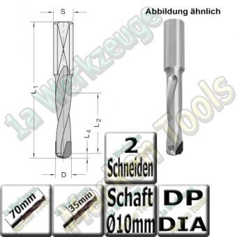 DP Dia Dübelbohrer Dübelochbohrer Ø 10mm x35x70mm Schaft 10mm L.