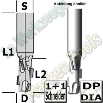 DP Dia Schaftfräser � 12mm x28x75mm Z1+1 Ecoline 3502 Schaft 12mm