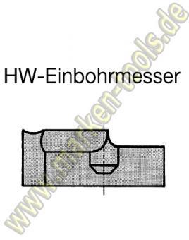 Einbohrschneide für Novitec Schaftfräser Ø24mm links