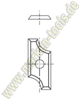 HM Abrund-Wendemesser HW Radius=10mm 30x14.5x1.5mm (2Stk.)
