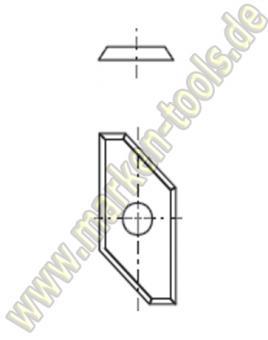 HM Fase-Wendemesser HW 19.5x9x1.5 Z4  Fase5x45° 10 Stück