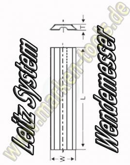 HM HW Leitz-System Wendeplatten Wendemesser 80 x 8 x 1.5 10 Stück HW30F