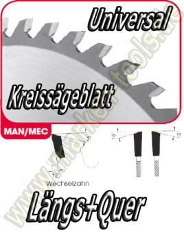 HM HW Sägeblatt Ø 300x3.2x2.2x30mm Z=72 WS NL Combi2