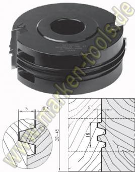 HM HW Trapezprofil Verleimfräser Wendeplatten 140x30 H=50mm