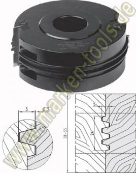 HM HW Trapezprofil Verleimfräser Wendeplatten 140x30 H=60mm
