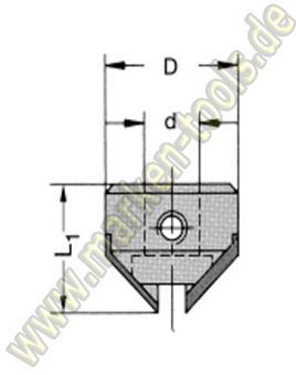 HM Senker 90 ° für Schaftspannung Schaft 10mm L.