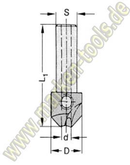 HM Senker 90° S=10x30 für Bohrer 5mm L.