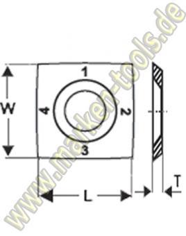 HM Wendemesser HW 15 x 15 x 2,5 R=150 30° Z4 MG18 10 Stück