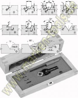 HM Wendeplatten-Ziernutfräser HW Set S=8