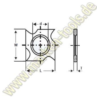 HM HW Wendeplatte Wendemesser 18 x 18 x 2,45 Vorschneider Hakenform 10 Stück