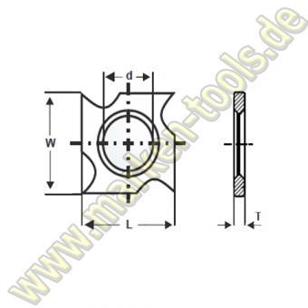 HM HW Wendeplatte Wendemesser 18 x 18 x 3,70 Vorschneider Hakenform 10Stck