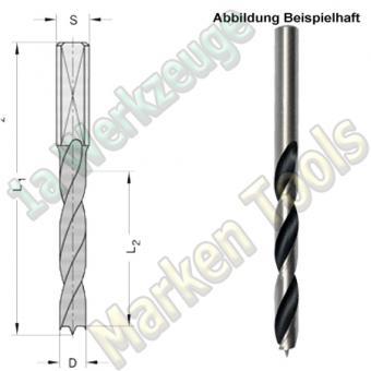 HS HSS Dübelbohrer Dübelochbohrer Ø 5mm x45x85mm Schaft 10mm