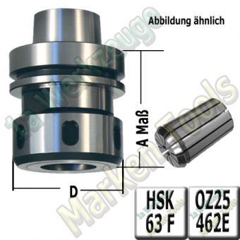 HSK 63F CNC Spannzangenfutter mit 20mm Spannzange 462E A=76mm