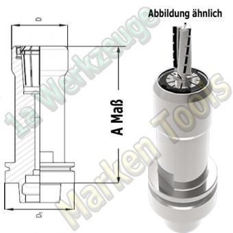HSK63E Spannzangenfutter A=115mm D=48mm Zeta Innenmutter Spannzange ER32/470E