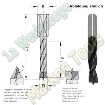 HW HM Dübelbohrer Dübelochbohrer Ø 14mm x65x105mm m.Rückenführung Schaft 10mm