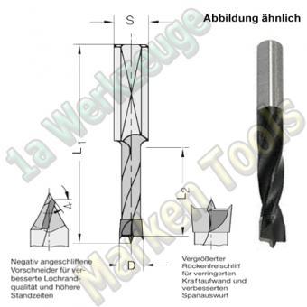 HW HM Dübelbohrer Dübelochbohrer Ø 8mm x35x70mm Z2+V2 Schaft 10mm