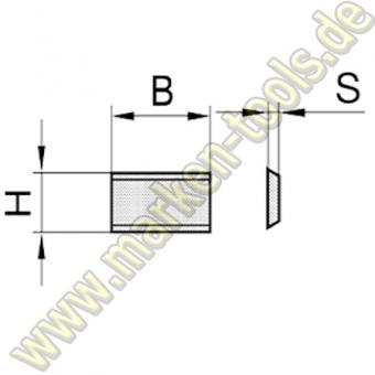 HW HM Wendemesser 15,8x5,5x1,1 10 Stück