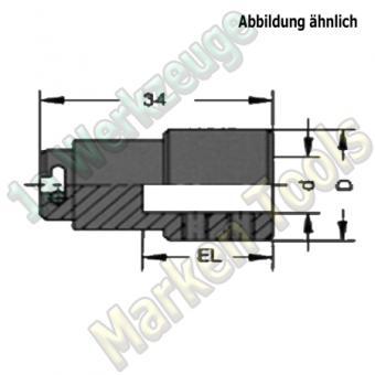 Schnellwechsel Bohrfutter zylindrische Ausführung EL=17,5mm