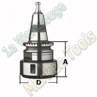 SK30 Spannzangenfutter m.Zahnkranz A=55mm D=50mm Spannzange ER32/470E