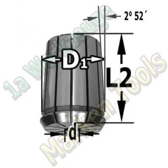"Spannzange 1/4"" 6.35mm 462E OZ25 DIN 6388"