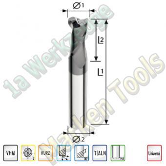 VHM Z2 Bohrnutfräser Ø4mm x8x50mm Schaft 6mm