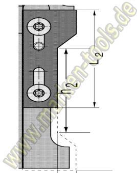Wechselplatte Fasemesser45° für Gr.2 T1 unten