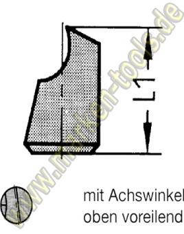 Wechselstift für Novitec Fräser Gr.1 (Ø16-20mm) Ø5mm oben voreilend