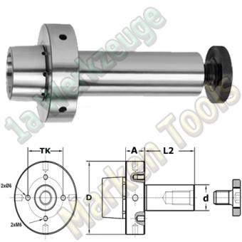 Weinig-Powerlock-System Fräsdorn HSK/Weinig Ø 40x80mm A=26 D=80 ML