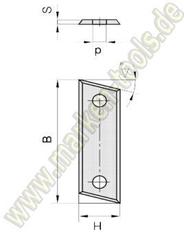 Wendemesser mit Fase 50 x 12 x 1.5 für abrasive Werkstoffe HM HW 60° 10 Stück
