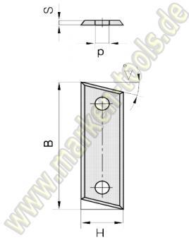 Wendemesser mit Fase 50 x 12 x 1.5 Standardqualität HM HW 60° 10 Stück