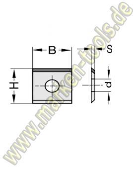 Wendeplatte Wendeschneidplatte DIA DP 20x12x1.5mm 1seitig 1 Loch