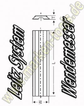 Wendeplatten Wendemesser 11.7 x 8 x 1.5mm Leitz-System 10 Stück HW05