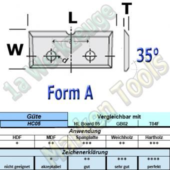 Wendeplatten Wendemesser 16 x 7 x 1,5 mm a=7mm Form A 1Nute für Schloßkastenfräser HM HW 10 Stück T04F