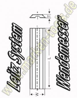 Wendeplatten Wendemesser 30 x 8 x 1.5mm Leitz-System 10 Stück HW05