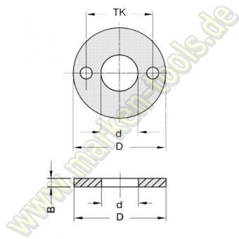 Zwischenring 10mm D=60mm d=30mm 2NL TK48mm