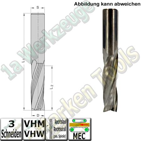 Ø 16mm x72x120mm Z3 Schlichtfräser Spiralnutfräser VHW VHM S=16 RR