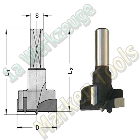 Ø 19mm x57,5mm Topfbohrer HM Z2+V2 S=10