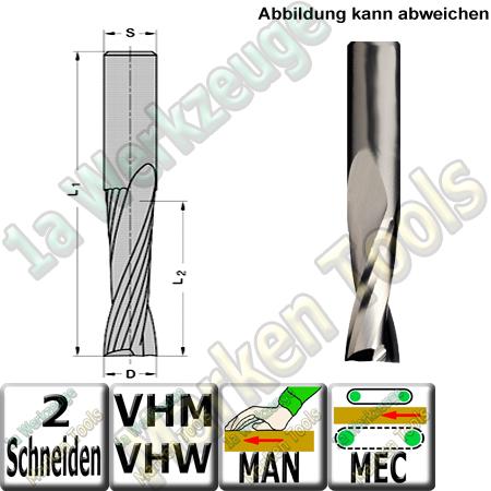 Ø 6mm x27x60mm Z2 Schlichtfräser Spiralnutfräser VHW VHM S=6 RR