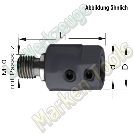 Bohrfutter Spannfutter M10 P11mm d=10mm, L1=41mm
