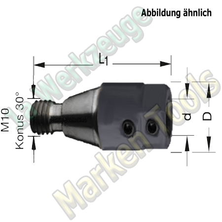 Bohrfutter Spannfutter M10 ZK;10mm L.