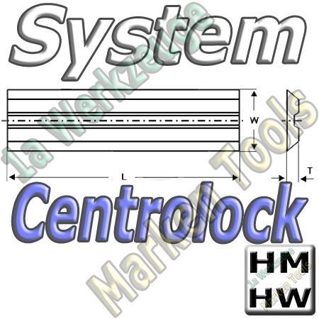 Centrolock Hobelmesser 65x16x3.0mm HM HW  (2Stck.)
