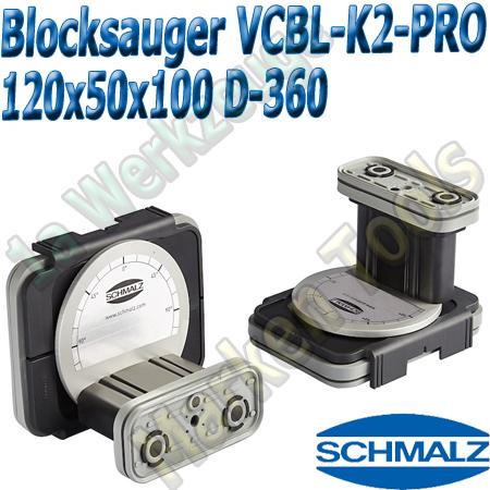 CNC Schmalz Vakuum-Sauger VCBL-K2-PRO 120x50x100 D-360 160x115mm