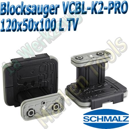 CNC Schmalz Vakuum-Sauger VCBL-K2-PRO 120x50x100 L-TV mit Tastventil 160x115mm