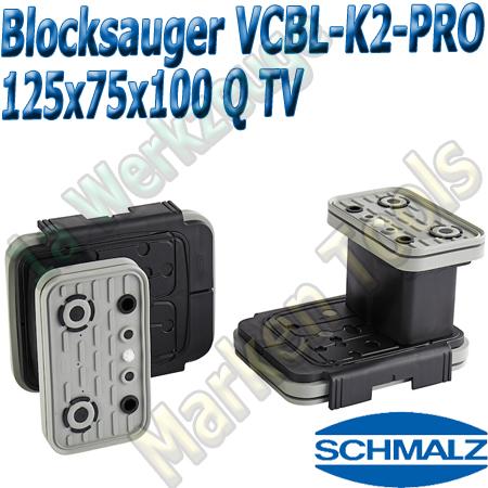 CNC Schmalz Vakuum-Sauger VCBL-K2-PRO 125x75x100 Q-TV mit Tastventil 160x115mm