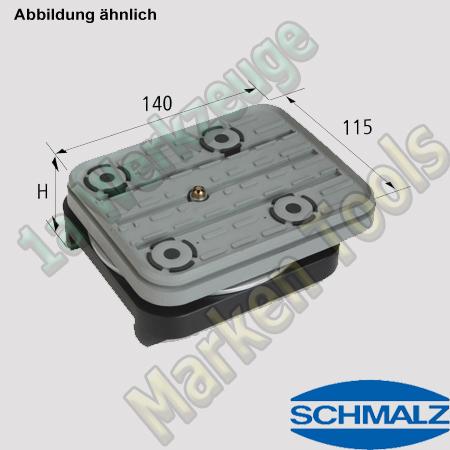 CNC Schmalz Vakuum-Sauger VCBL-S1 140x115x32,7  360°drehbar