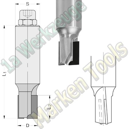 DP Dia Fräser Ø 10mm x15x75mm JSO Schaftfräser Z2 DIATEC4 S=10x45